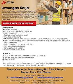 Helper atau asisten leader gudang di PT Atria Artha Persada