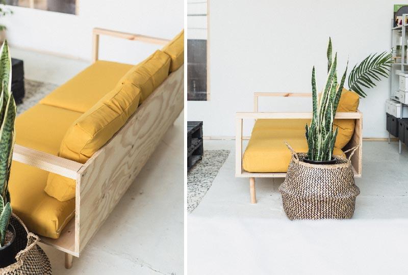 Realizzare fai da te un comodo divano in legno blog di arredamento e interni dettagli home decor - Divano in legno fai da te ...