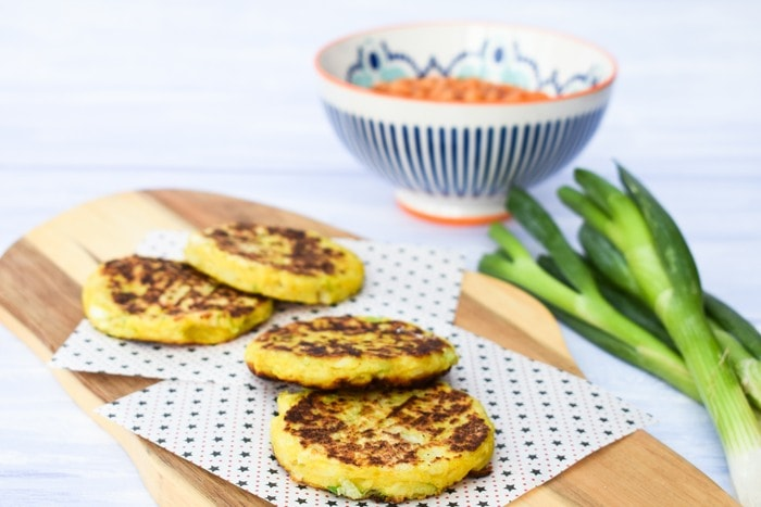Indian Spiced Potato Scones on a wooden board