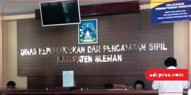 Dinas Kependudukan dan Pencatatan Sipil Kabupaten Sleman | adipraa.com