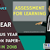 Previous Year Question Paper/Model Question Paper-B.Ed 2nd Year (Assessment for Learning) Session (2015-17)