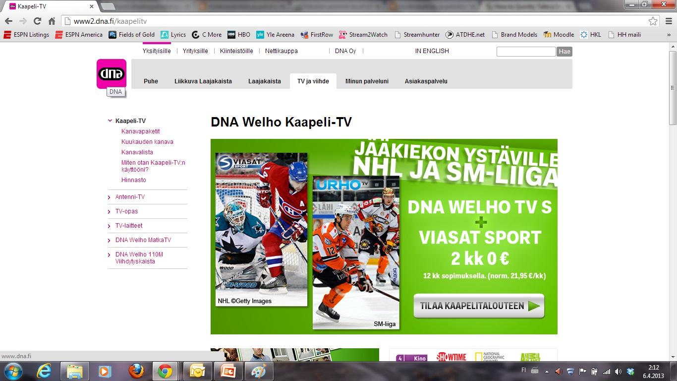 Dna Kaapeli Tv Häiriöt Oulu