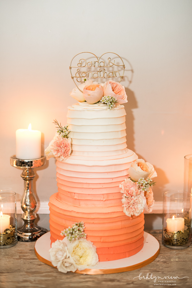 blush wedding cakes york modern wedding at the metropolitan building nyc 12063