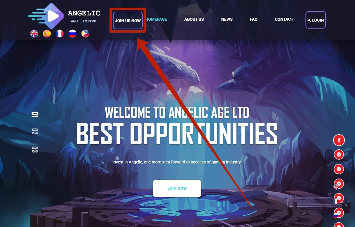 Регистрация в Angelic Age