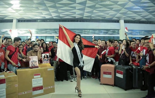 send off frederika miss universe