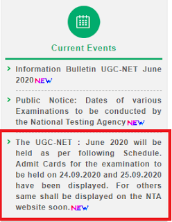 UGC NET New exam date