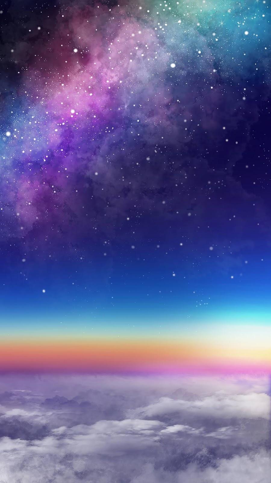 Dãy ngân hà đầy sắc màu giữa bầu trời