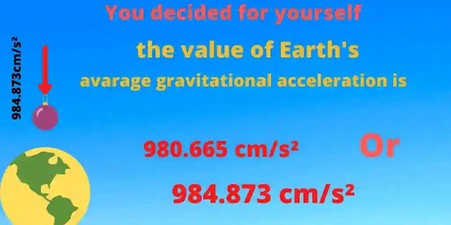 Real Gravitational  acceleration of the Earth