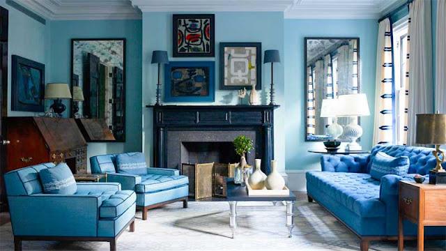 desain ruang keluarga colorfull