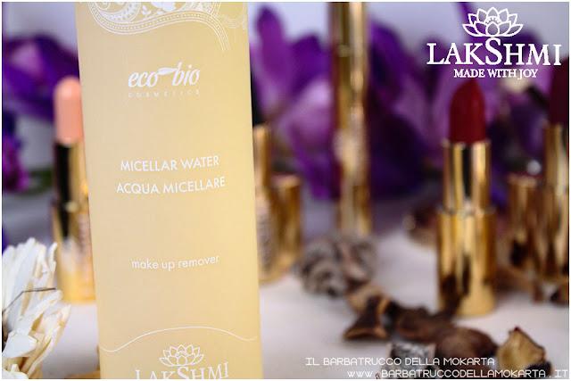 acqua micellare recensione lakshmi makeup vegan ecobio
