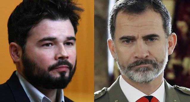 Gabriel Rufián y Felipe VI