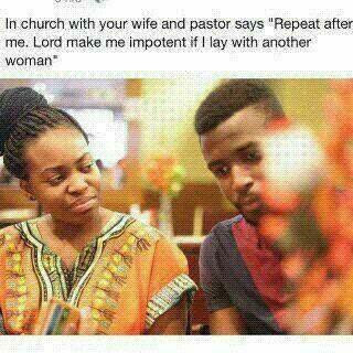 Okokobioko! When The Pastor Helps Wife To Catch Cheating Husband (Hilarious Photo)