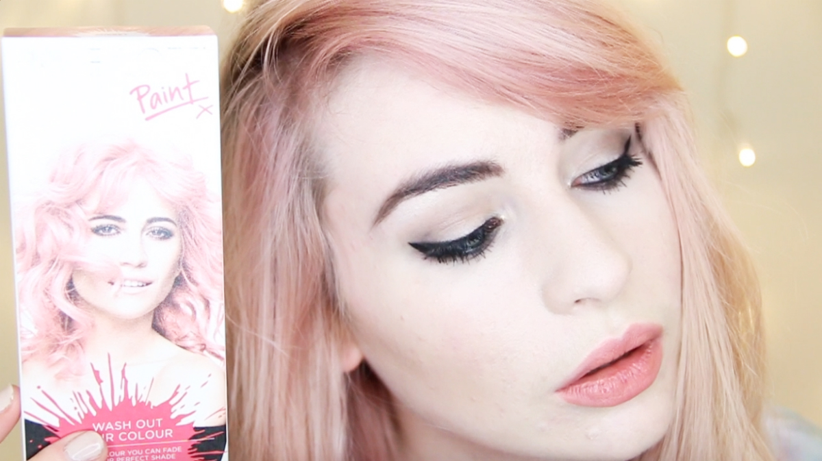 REVIEW HOW TO DYE HAIR PINK WITH PIXIE LOTT PAINTS Katie Snooks - Hair colour youtube
