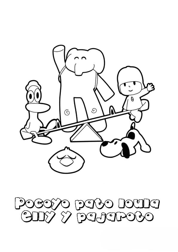 Imagenes De Pocoyo Para Colorear Imagenes Y Dibujos Para Imprimir