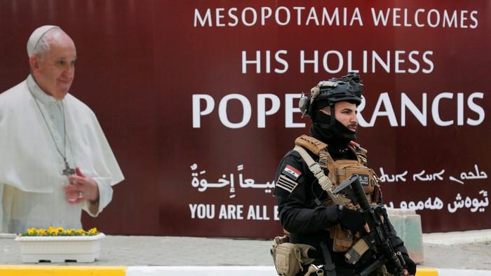 10.000 Pasukan Keamanan Disiapkan untuk Melindungi Paus Fransiskus di Irak