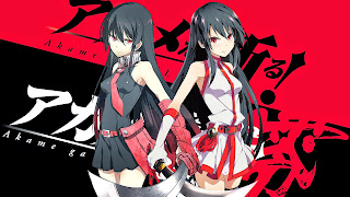 Tapeta Full HD z Akame Ga Kill z Akame / czerwono-czarna