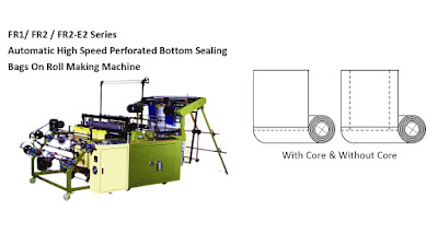 Perforated Bottom Sealing Bags On Roll Making Machine