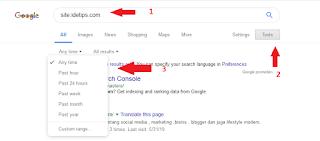 Cara Mudah Mengetahui postingan sudah terindeks Google atau Belum