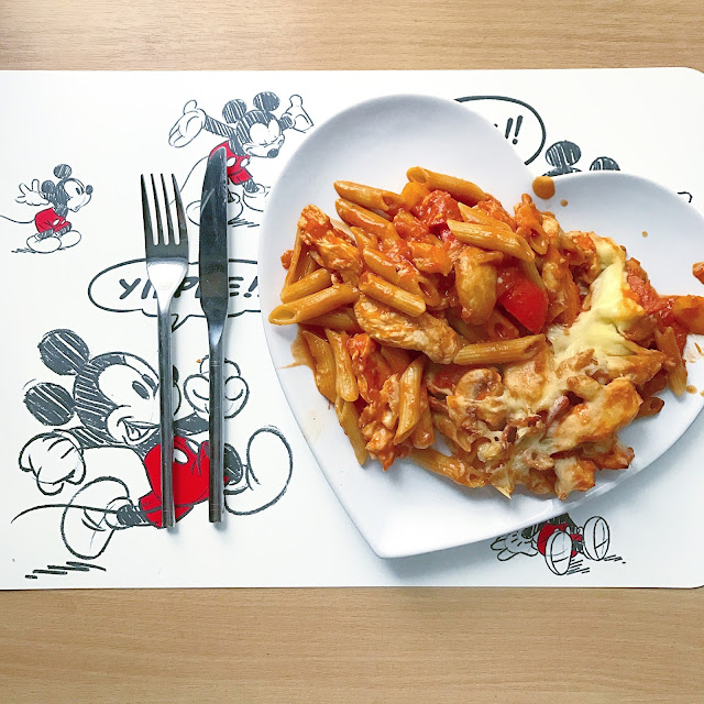 Pizza Chicken Pasta Bake