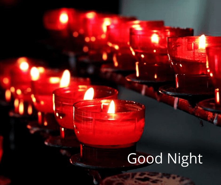 Good Night Candle Images download