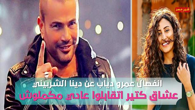 خناقة عمرو دياب ودينا تشعل مواقع التواصل