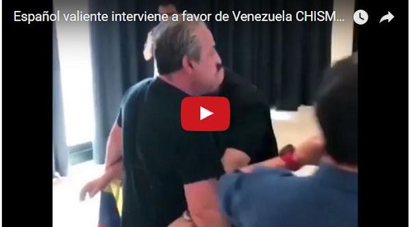 Ciudadano español interrumpe acto del IU sobre Venezuela en España