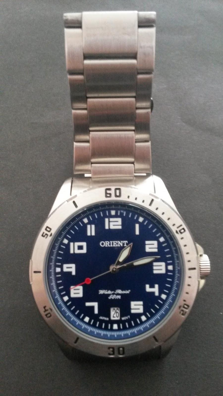 31e8df969a6 Dois modelos de relógios da marca Orient. Modernos e robustos