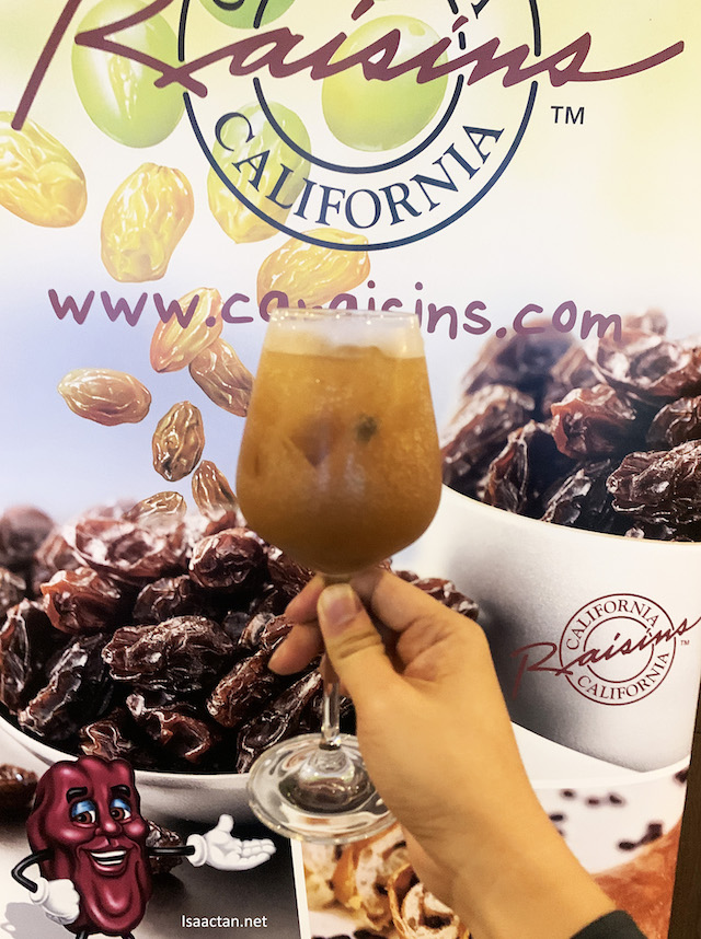 Welcome drink, infused with California Raisins