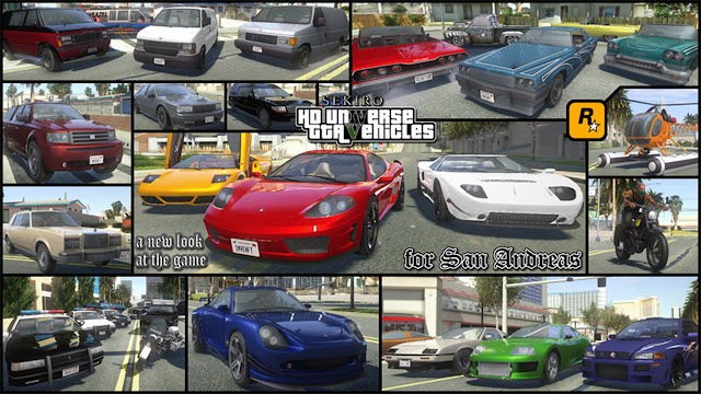GTA San Andreas GTA V Cars Pack 2021