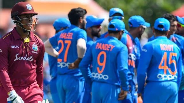 भारत बनाम वेस्टइंडीज का पूरा शेड्यूल