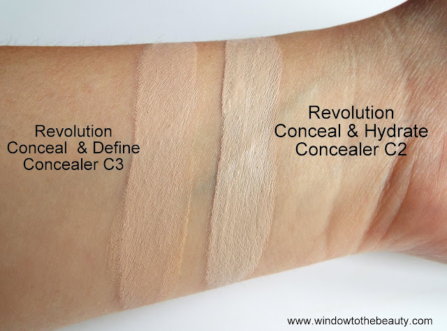 Revolution Conceal & Hydrate Concealer swatches