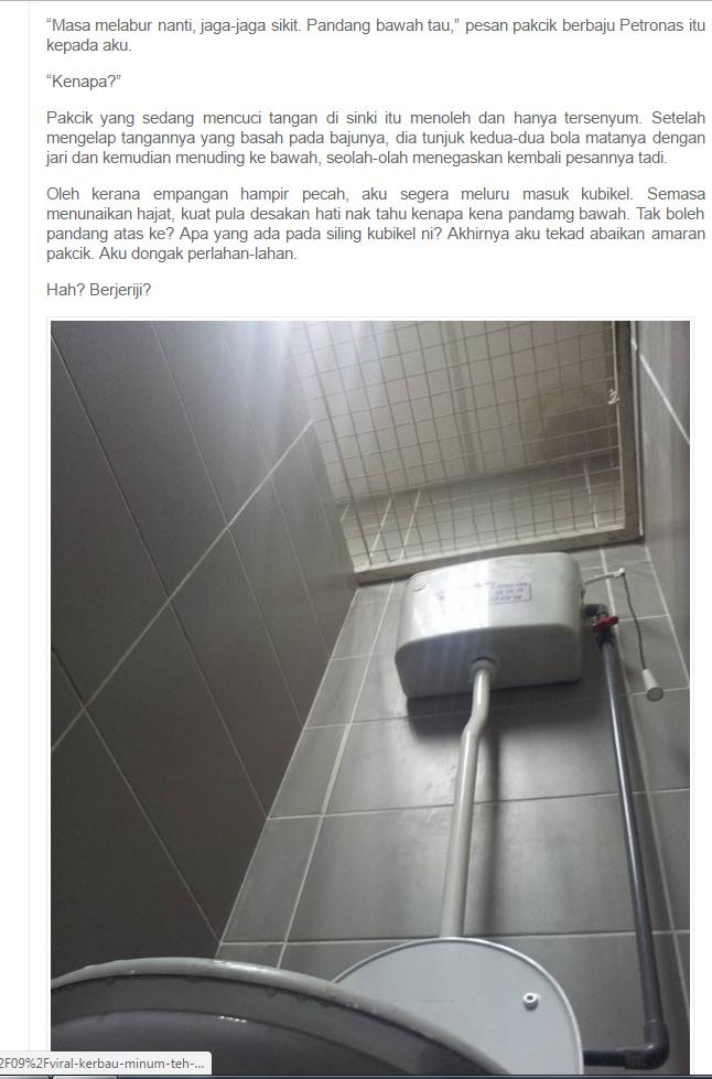 """""""Tolong Hati-Hati Aku Dah Terkena Sekali, Sebab Benda Ni Aku Malu Besar Seumur Hidup Sebab Benda Ni Dalam Tandas Awam Petronas"""","""