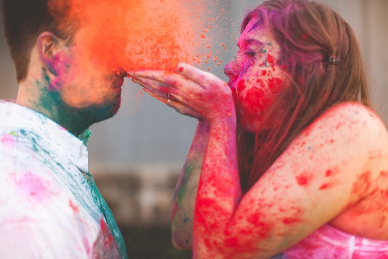 Colorful-Engagement-Session-Holi-Powder