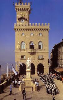 The Palazzo Pubblico in San Marino