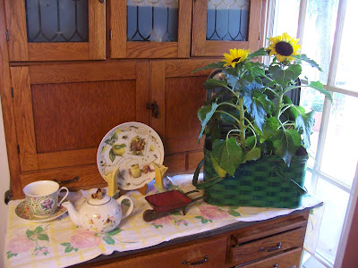 A Sentimental Life: June 2011 - Decorating Top Of Cabinets With Sunflowers