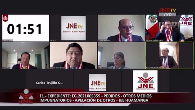 FRENTE ESPERANZA sustenta apelación por la inscripción de candidatos al Congreso