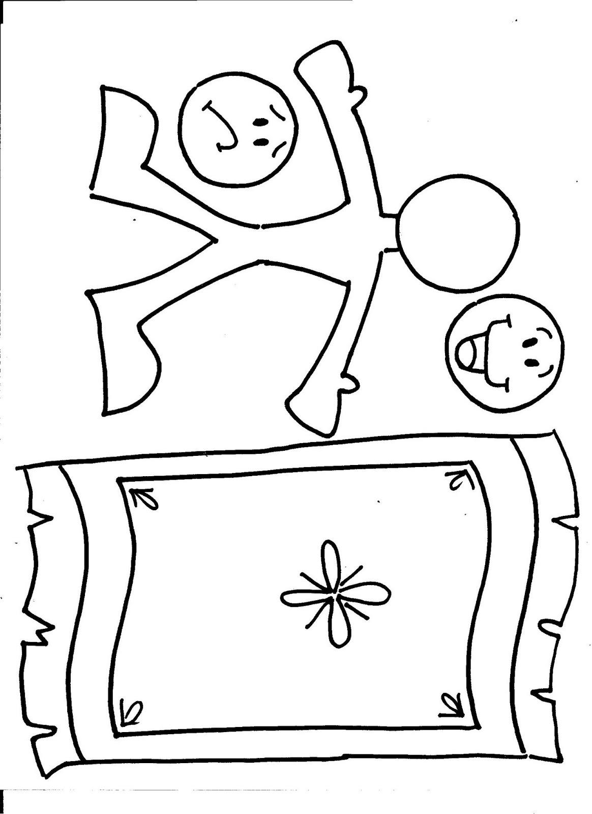 Free coloring pages of paralyzed man for Jesus heals a paralytic coloring page