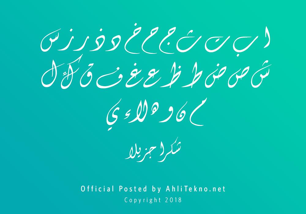 kumpulan font typography arabic keren (Diwani Letter)