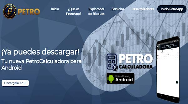 Disponible PetroCalculadora para móviles con sistema operativo Android