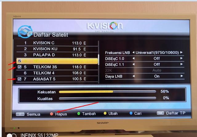 Cara Registrasi / Aktivasi K-Vision Baru, Mencari / Scan Siaran Palapa D, Telkom 4 Menghapus dan Memindahkan Channel K-Vision Gardiner G-88HD Ottimo Yang Baru beli Parabola LNB 2 C-Band