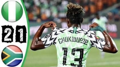 Watch Video: Nigeria 2 – 1 South Africa (July-10-2019) Africa Cup of Nations Highlights