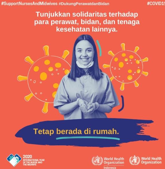 Poster Kampanye Solidaritas terhadap tenaga kesehatan agar kita terhindar dari covid19
