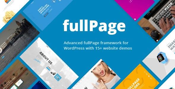 FullPage Fullscreen Multi Concept Wordpress Themes
