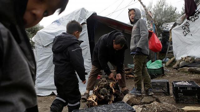 Ο Χειμώνας των προσφύγων στη  Μόρια (βίντεο)