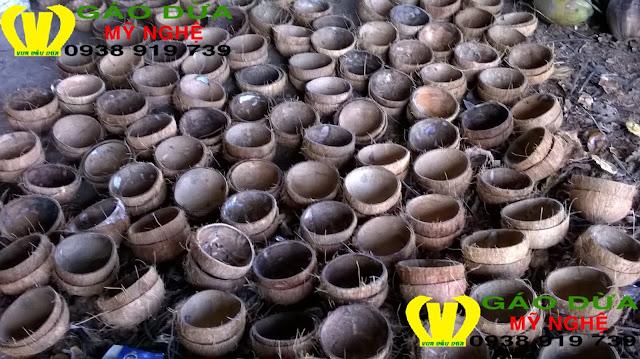 Gáo dừa mỹ nghệ, bán gáo dừa thủ công mỹ nghệ theo yêu cầu