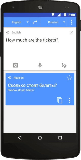 google translate travel