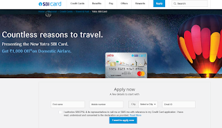 Yatra SBI Card,  How to Apply SBI Credit Card Online