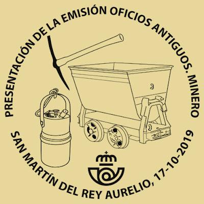 Matasellos de presentación del sello de El Minero