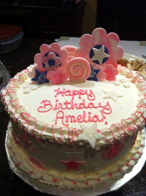 Its Sweet 7 Year Old Birthday Girl Cake