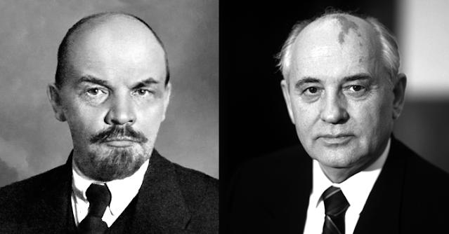 Lenin y Gorbachov